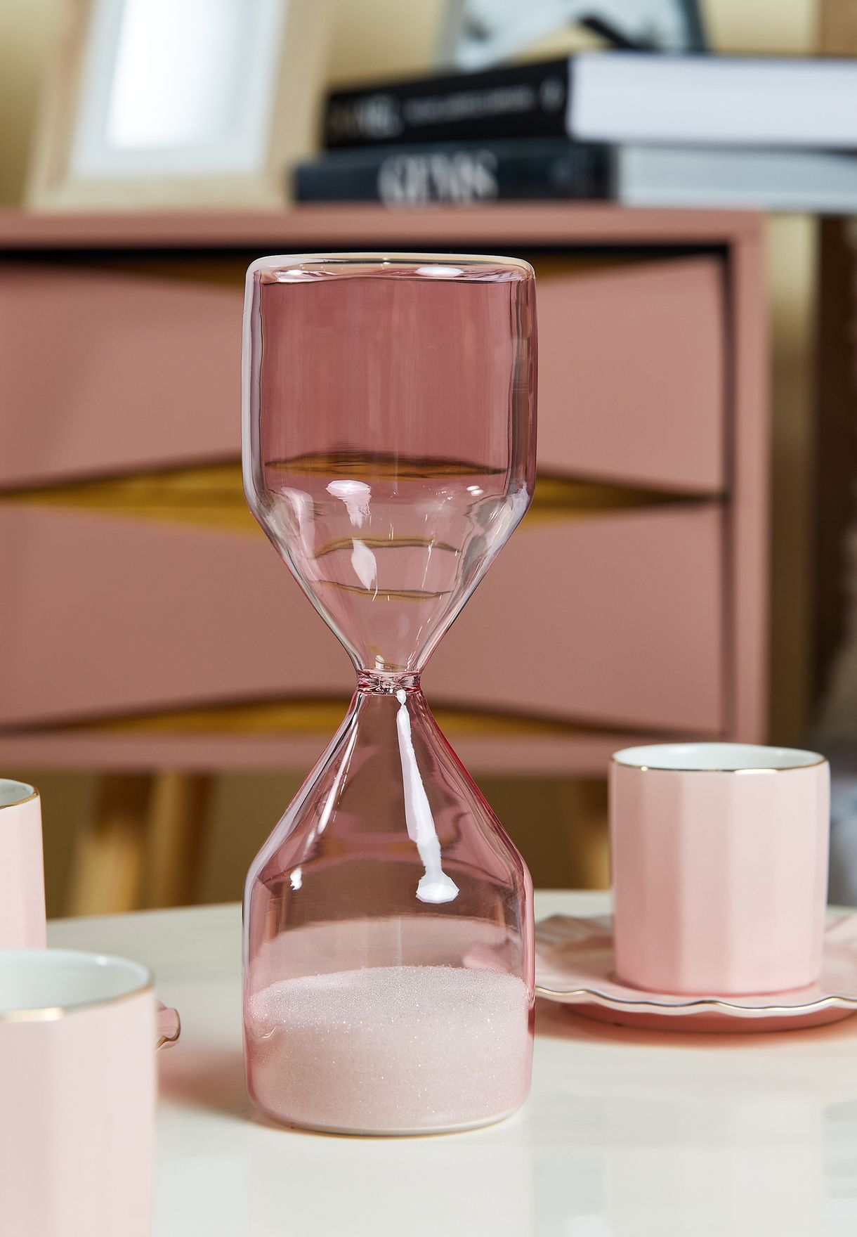 Pink Large Hour Glass Sand Timer
