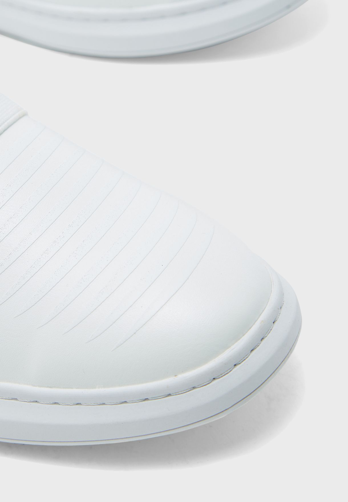 Elastic Detail Casual Slip Ons