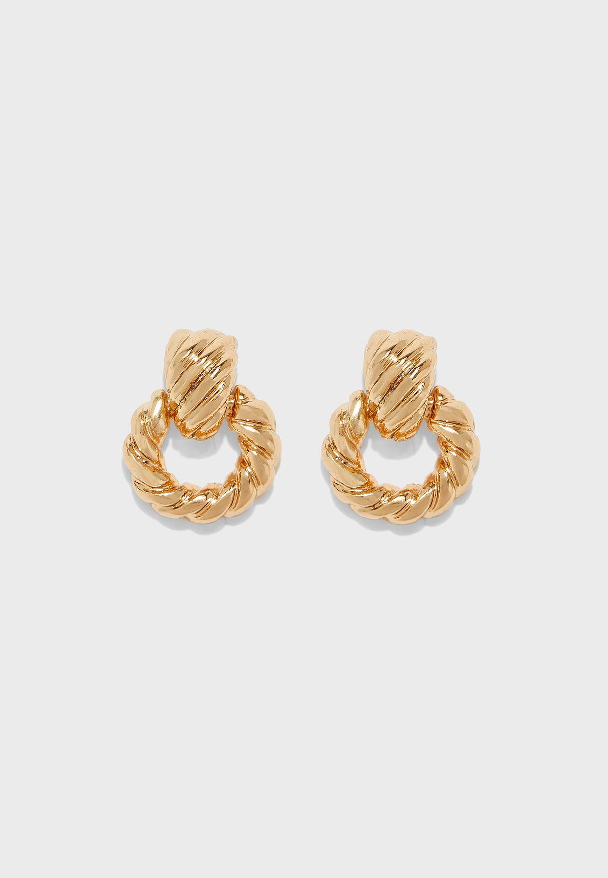 Woven Door Knocker Earrings