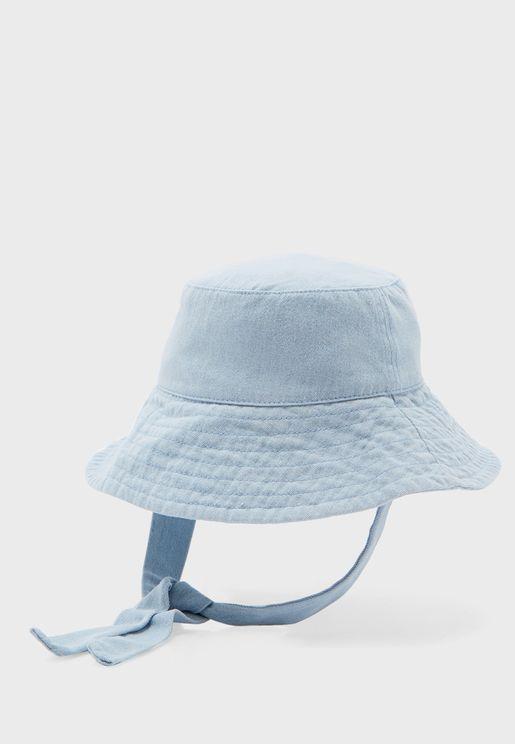 Kids Wide Brim Bucket Hat
