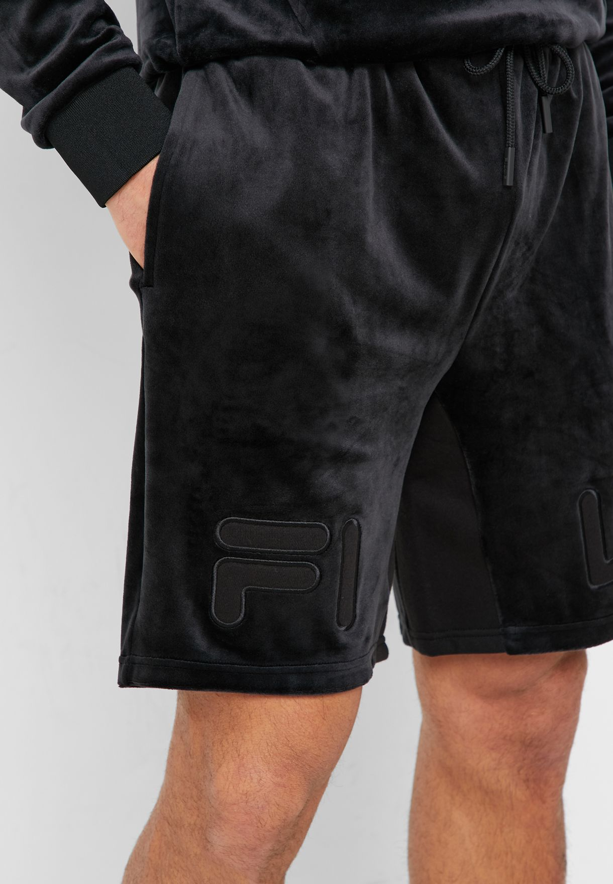 Arc Applique Velour Shorts