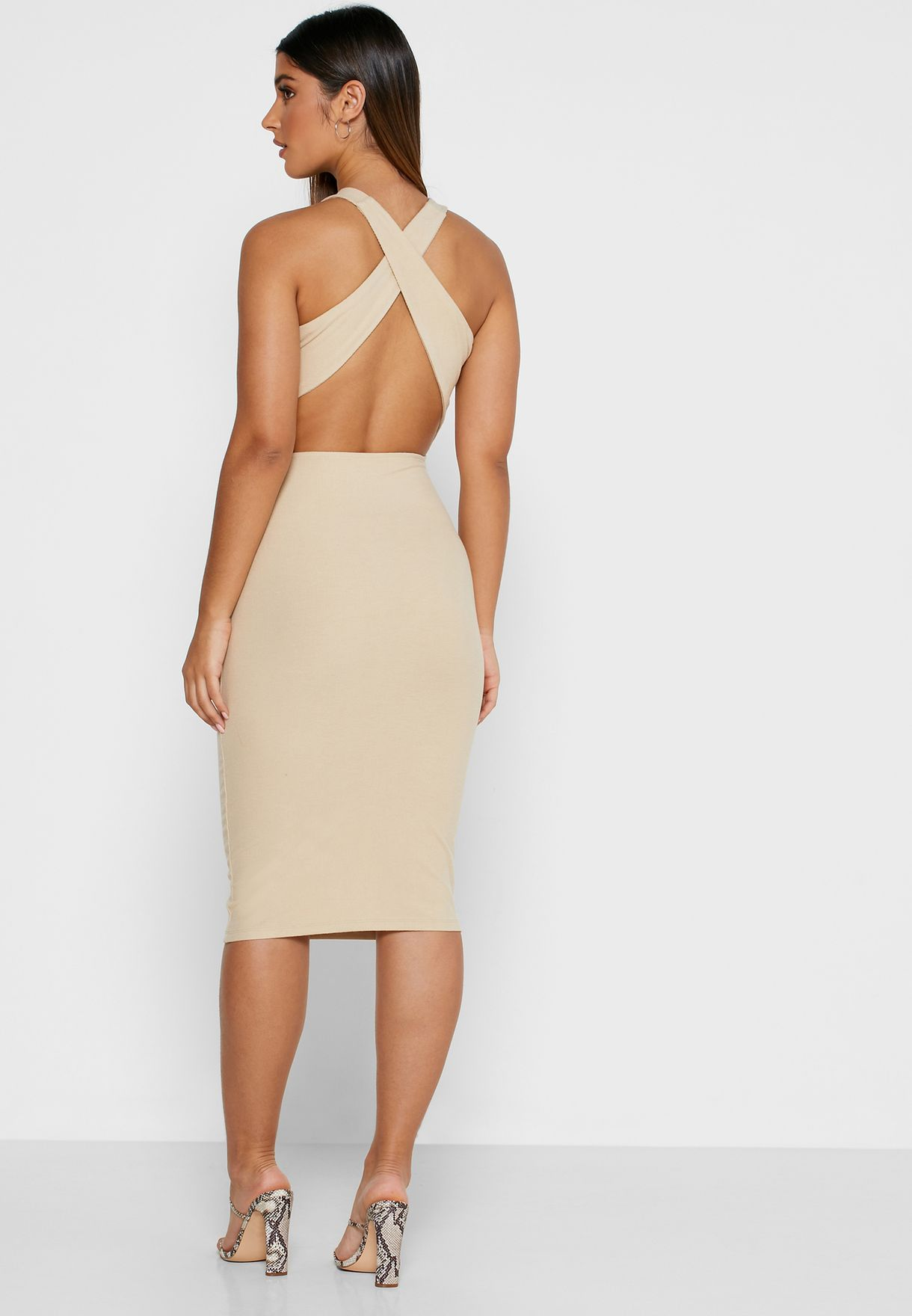 4th & Reckless Tie Waist Bodycon Dress - Women Clothing RnMD9