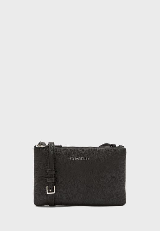 Logo Top Zip Crossbody