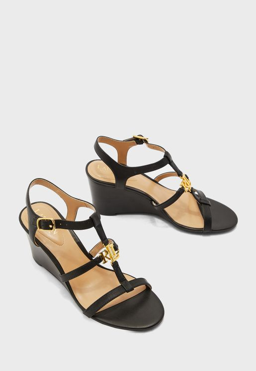 Charlton Ankle Strap Wedge Sandal