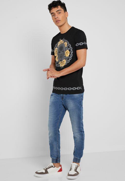 4004c173f6f2 Mid Wash Jogger Jeans