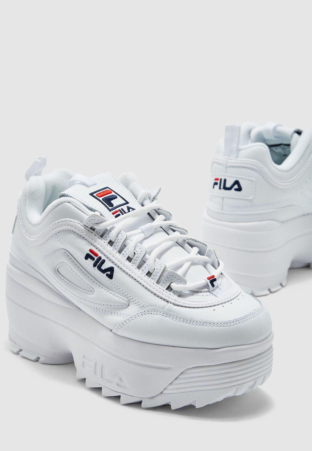 Buy Fila white Disruptor II Wedge for
