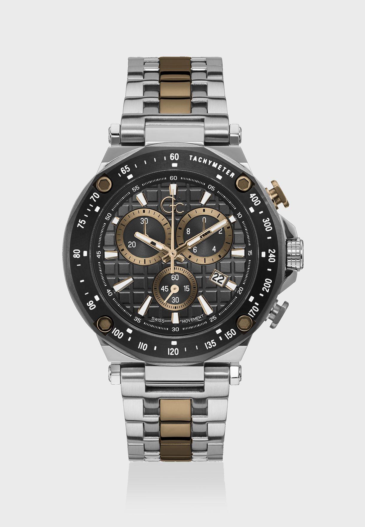 Spirit Sport Chronograph Metal Strap Watch