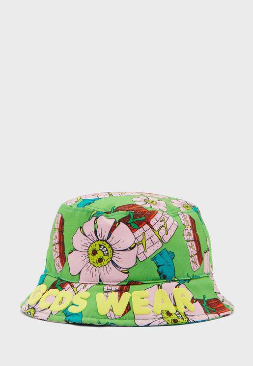 قبعة بطبعات