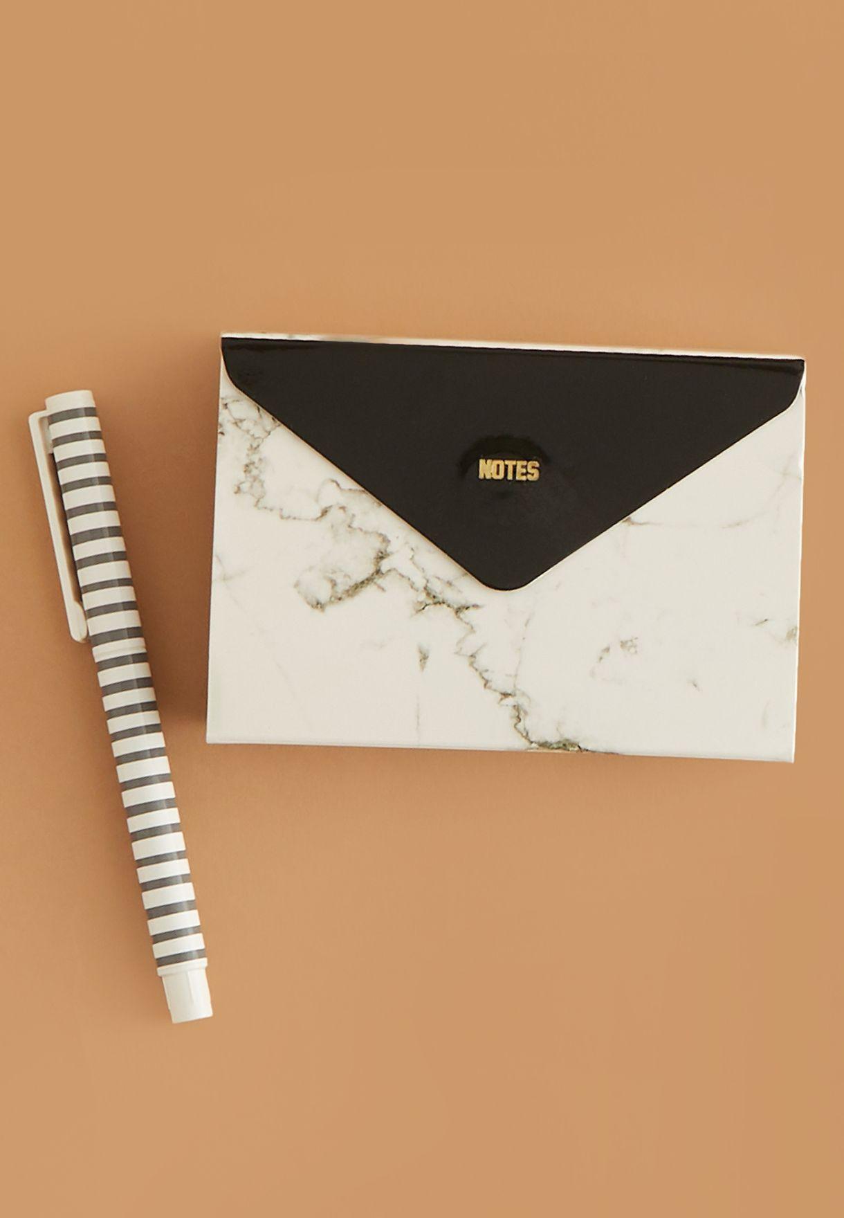 Marble Pocket Sticky Note Set