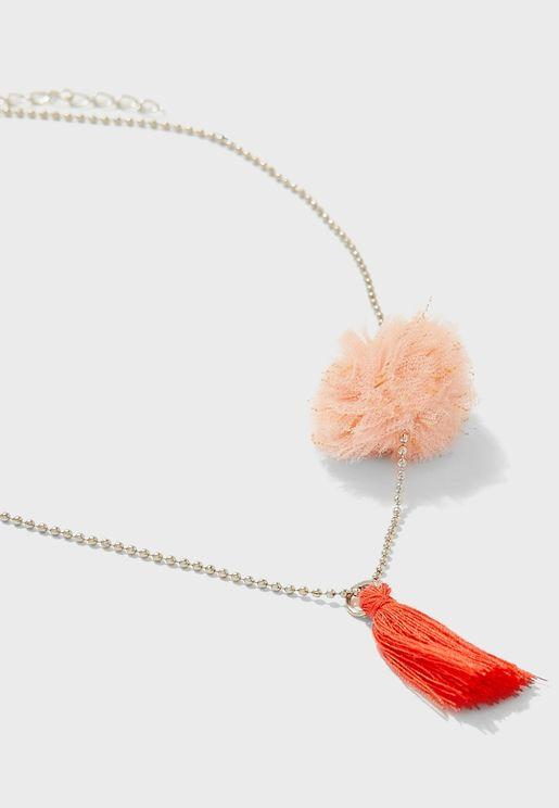 Kids Tassel Detail Necklace