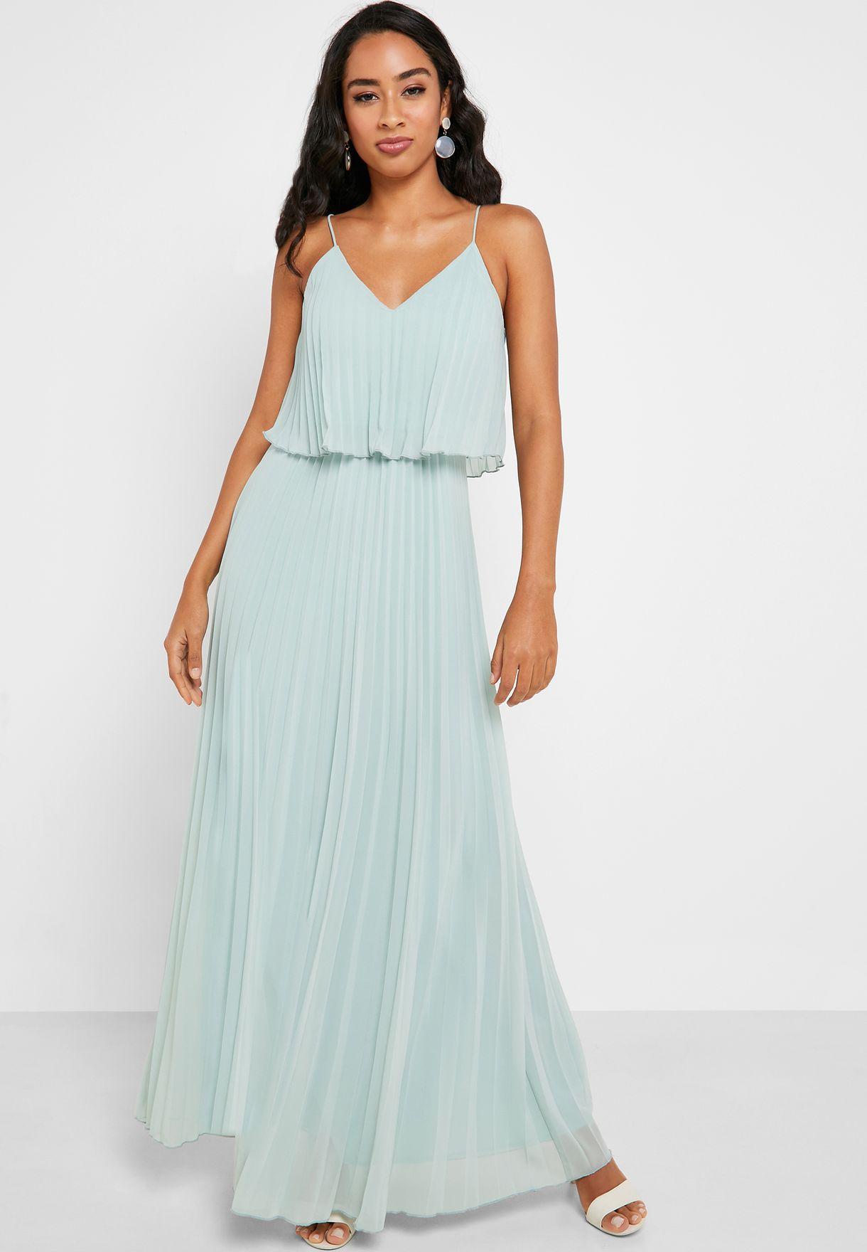 Layered Pleated Cami Dress