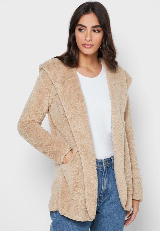 معطف بياقة هودي