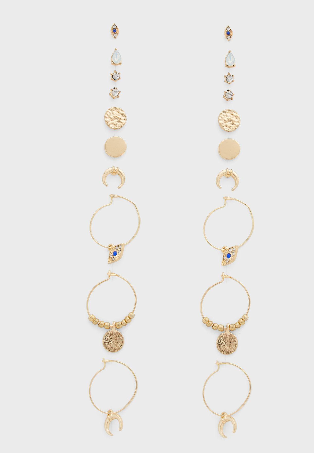 9 Pack Mystic Earrings