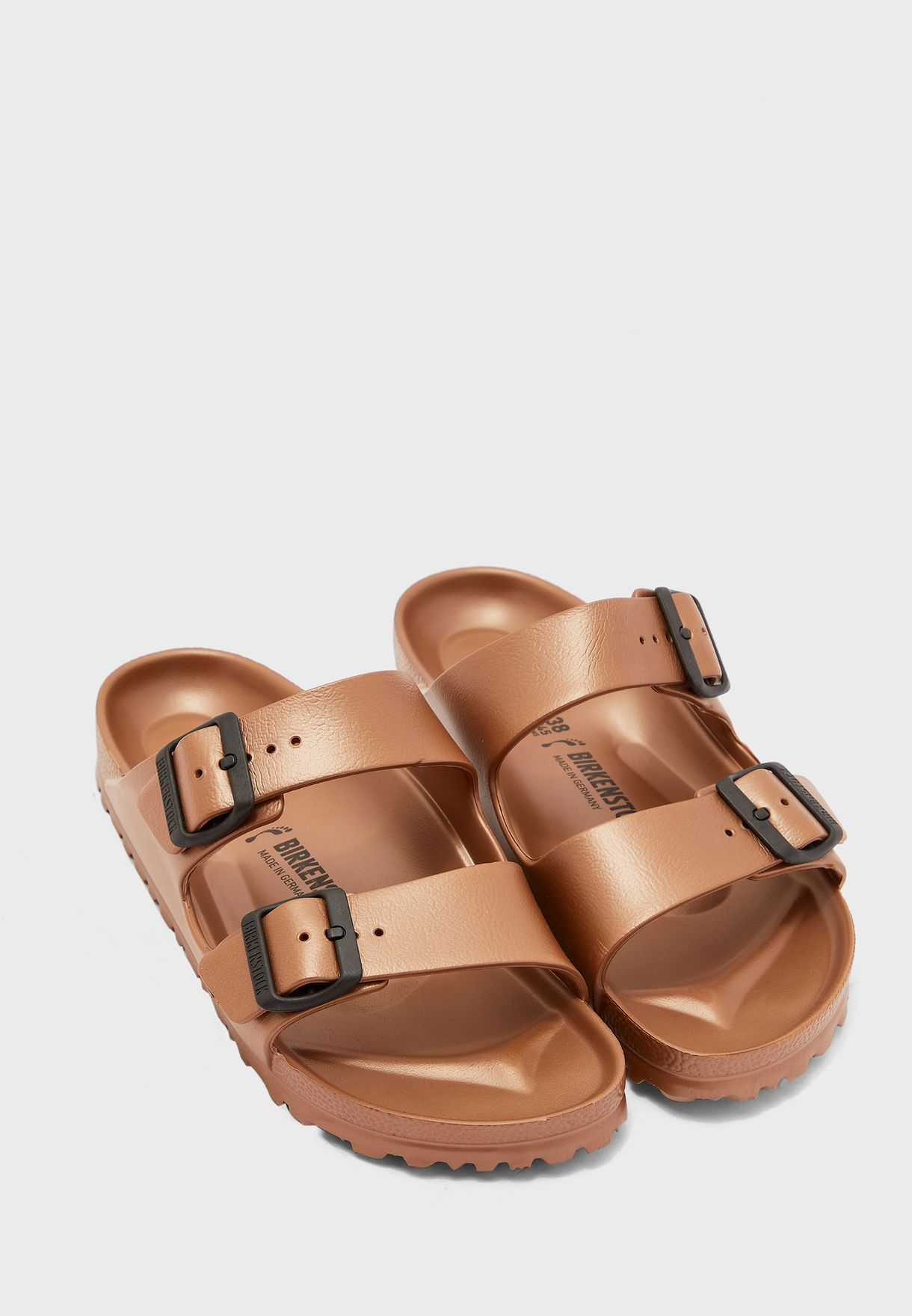 Two Strap Buckled Sandals