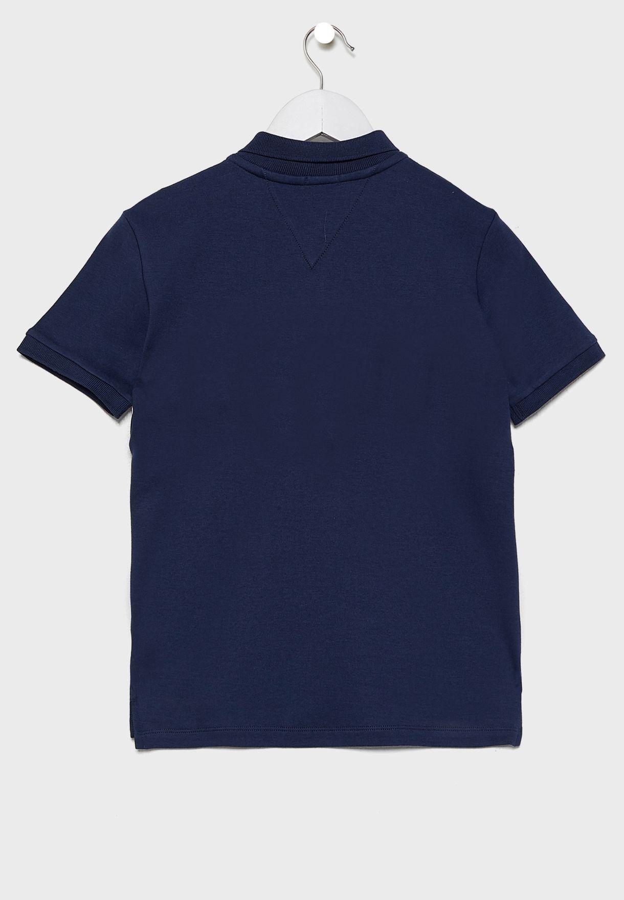 Teen Logo Colorblock Polo T-Shirt