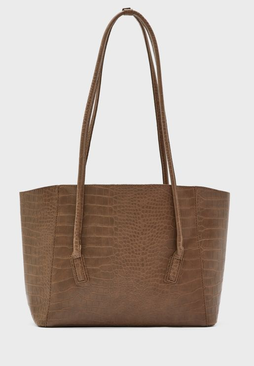 Long Strap Croc Tote Bag