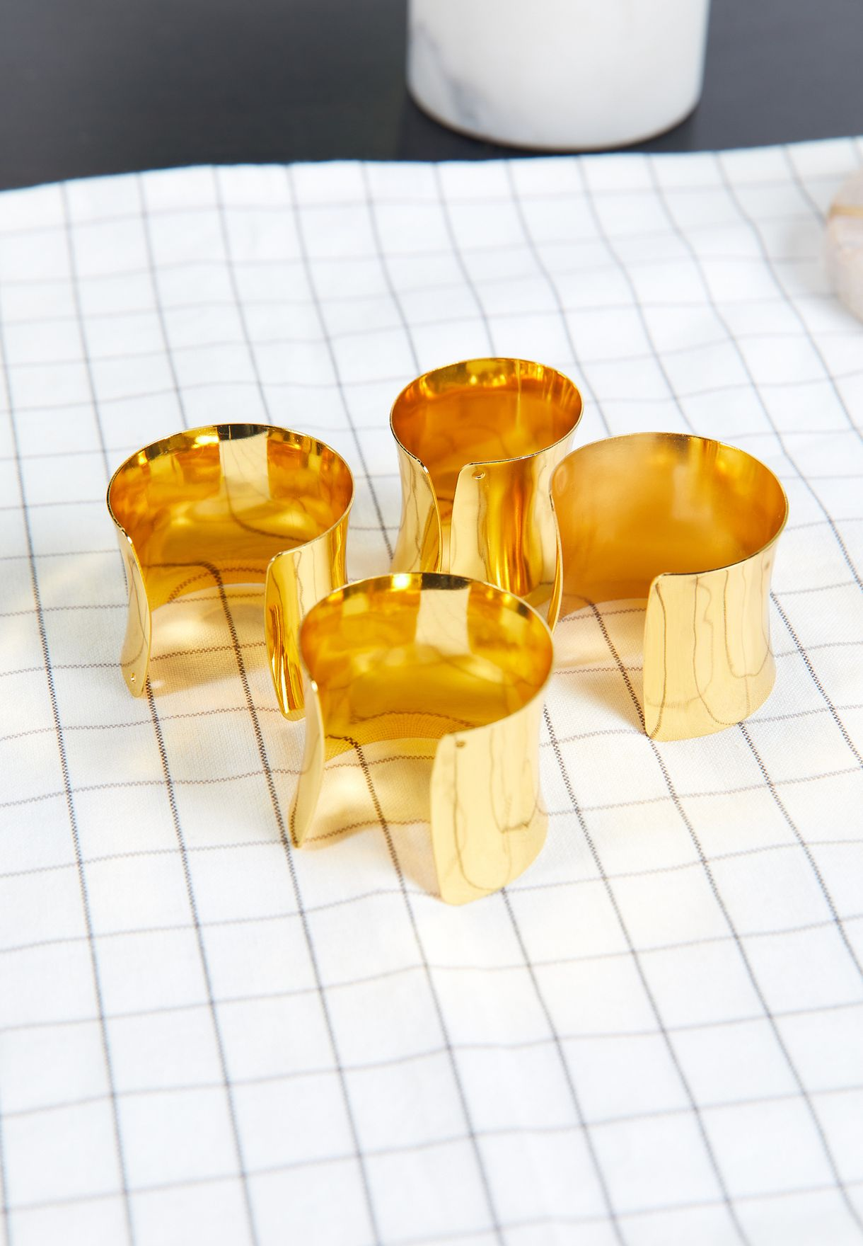 Set of 4 Gold Napkin Rings