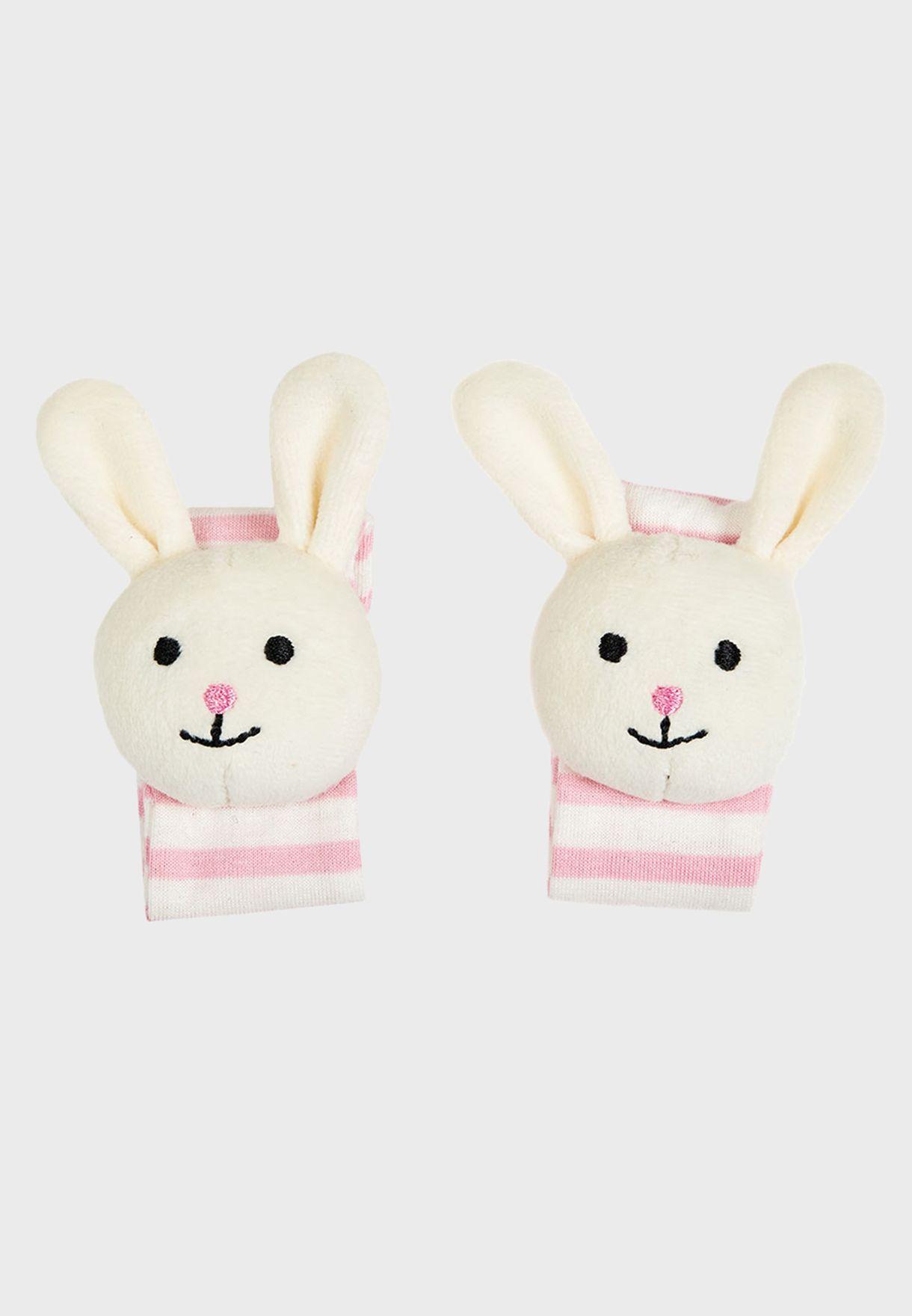 Bunny Wrist Rattles