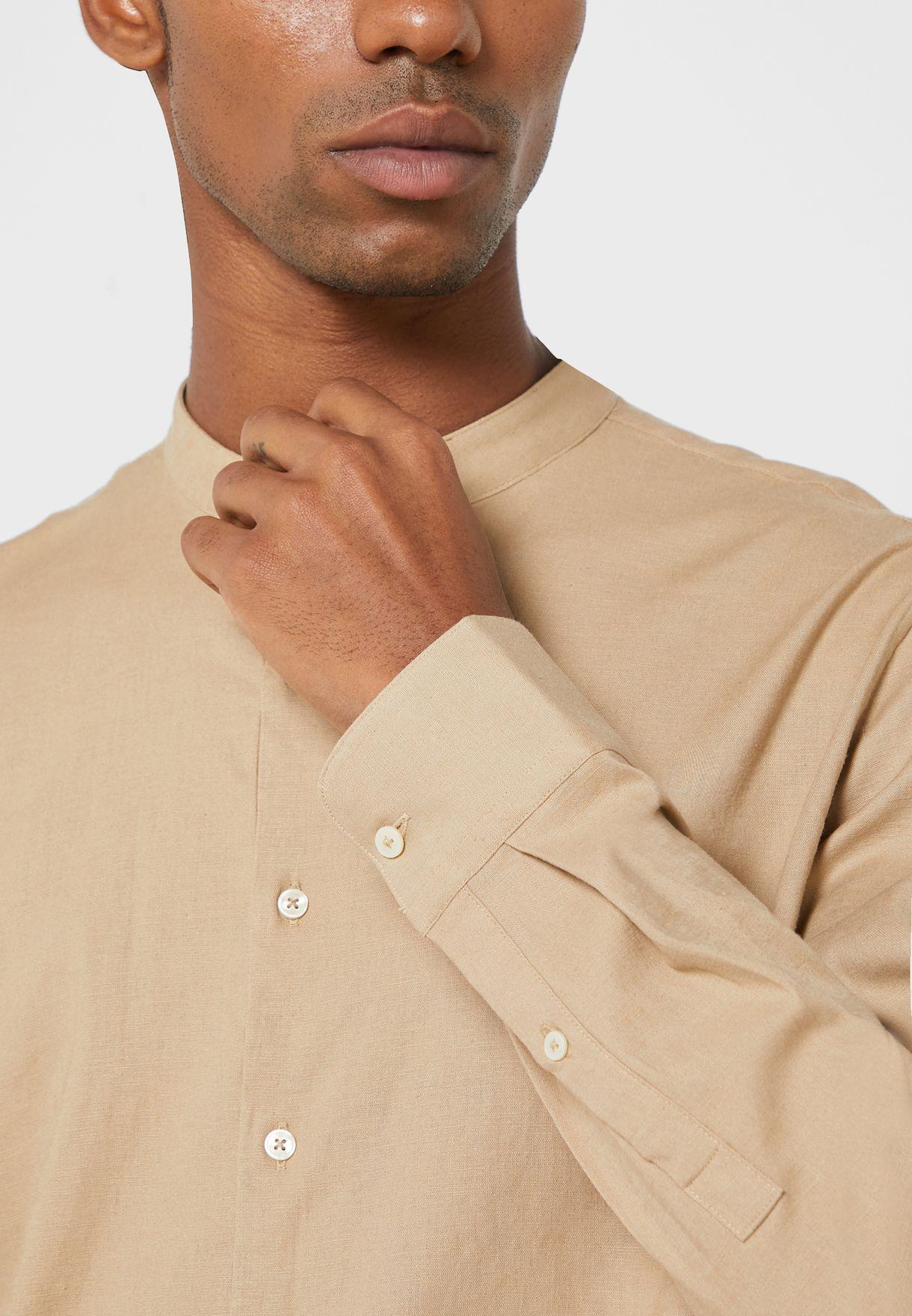 Half Placket Regular Fit Shirt