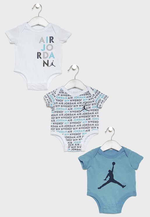 Infant Jordan 3 Pack Bodysuit Set
