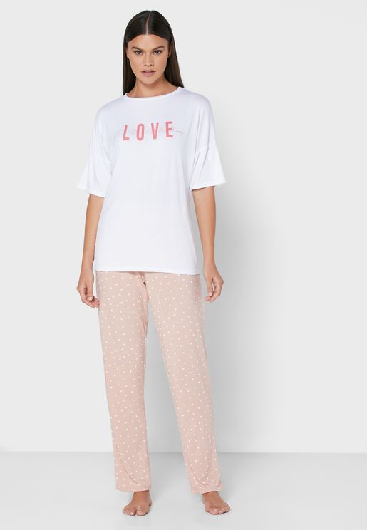 Supersoft Printed T-Shirt & Pyjama Set