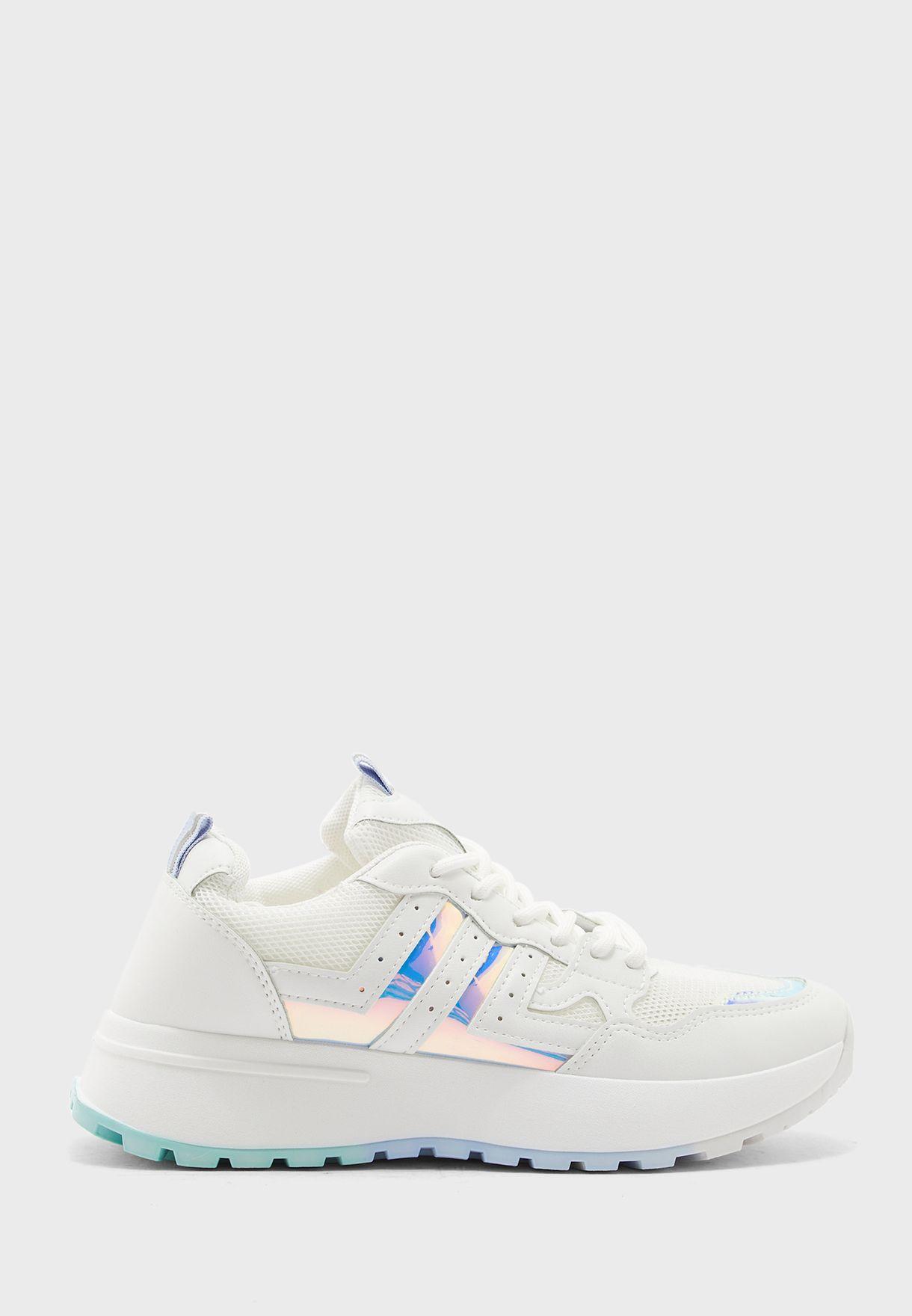 Metallic Colour Pop Sneakers