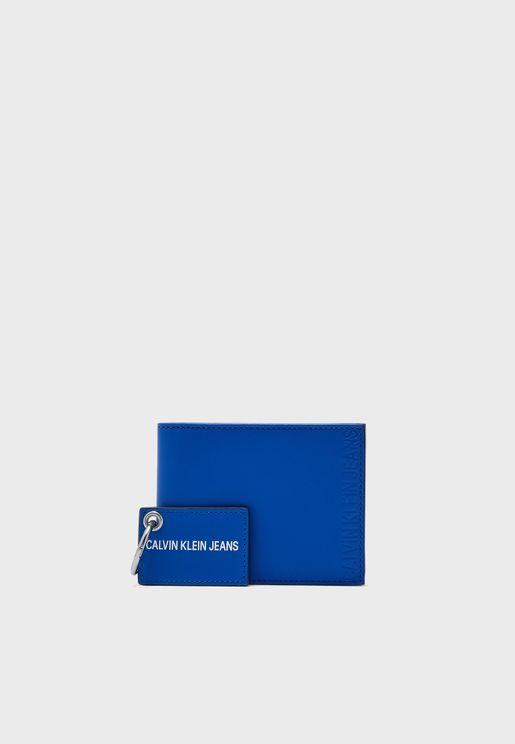 Logo Wallet + Keyring Gift Set