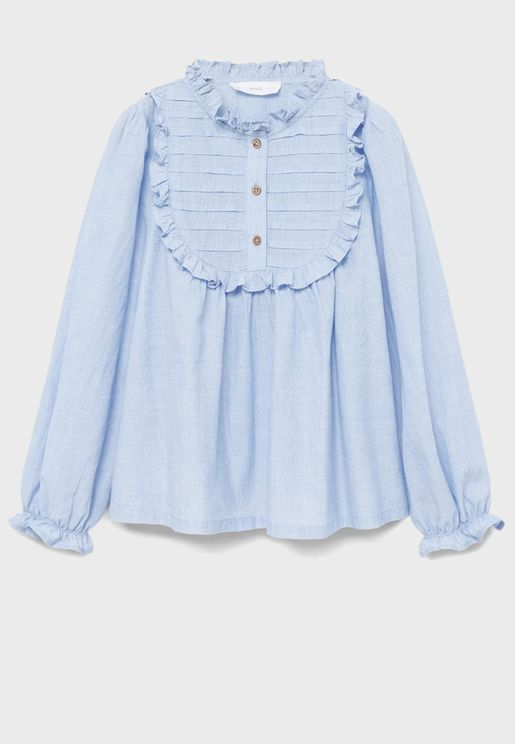 Kids Embroidered Neck Top