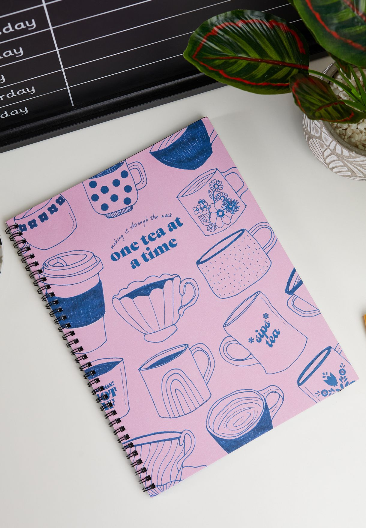A4 Uk Pinktea Spinout Notebook
