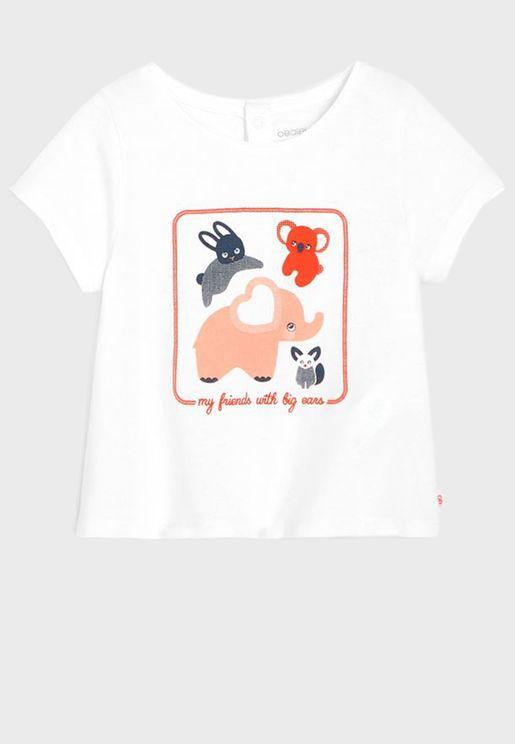 Infant Printed Crew Neck T-Shirt