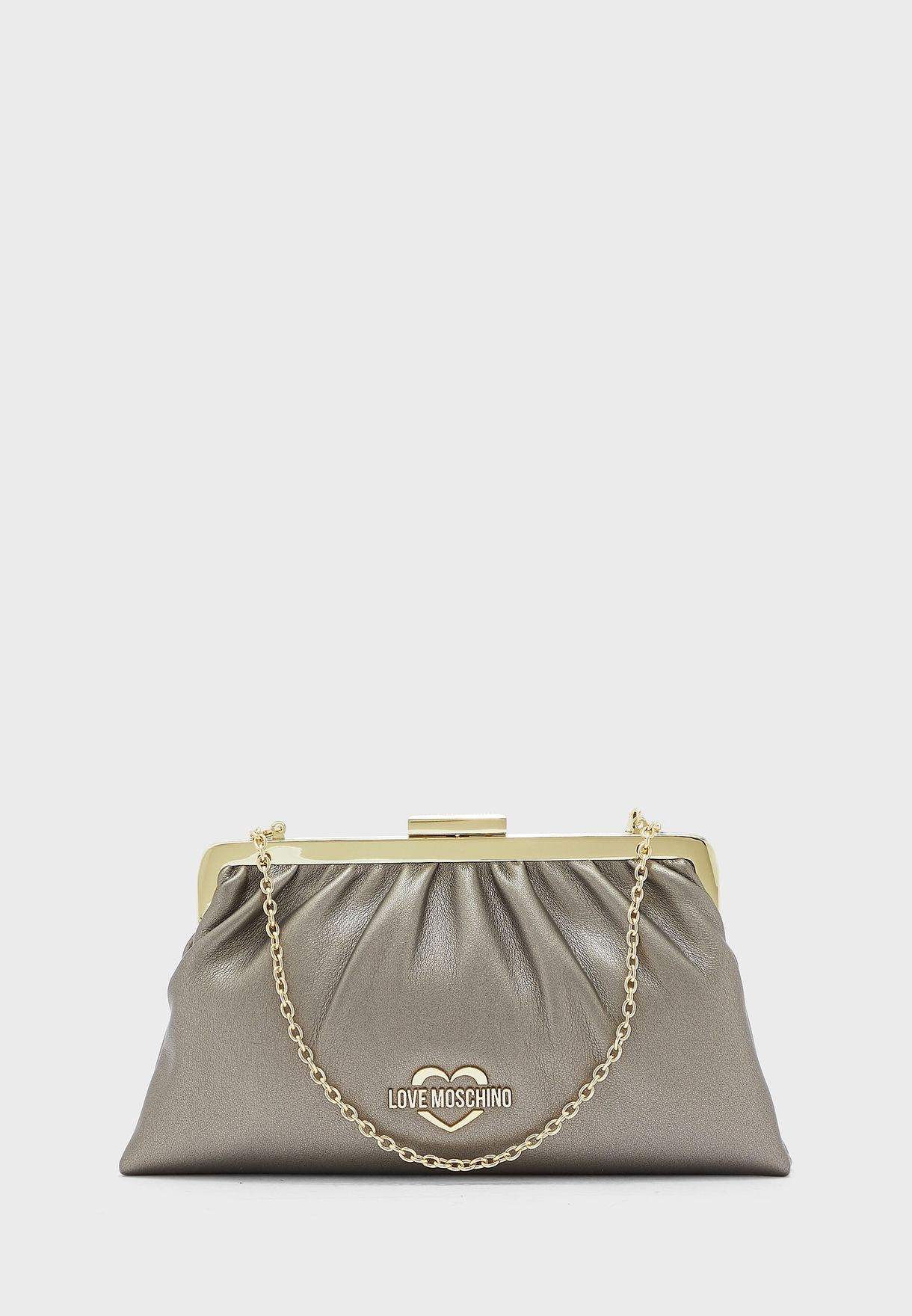 Ruched Detail Clutch