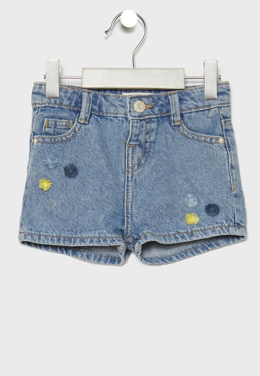 Infant Embroidered Shorts