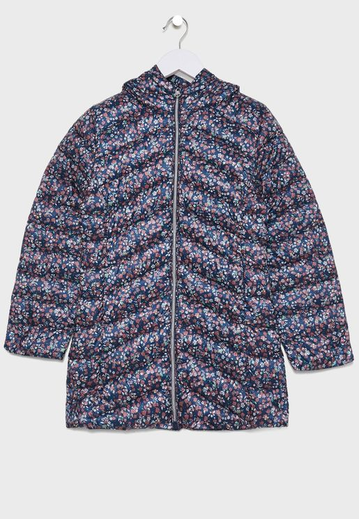 Kids Floral Padded Jacket