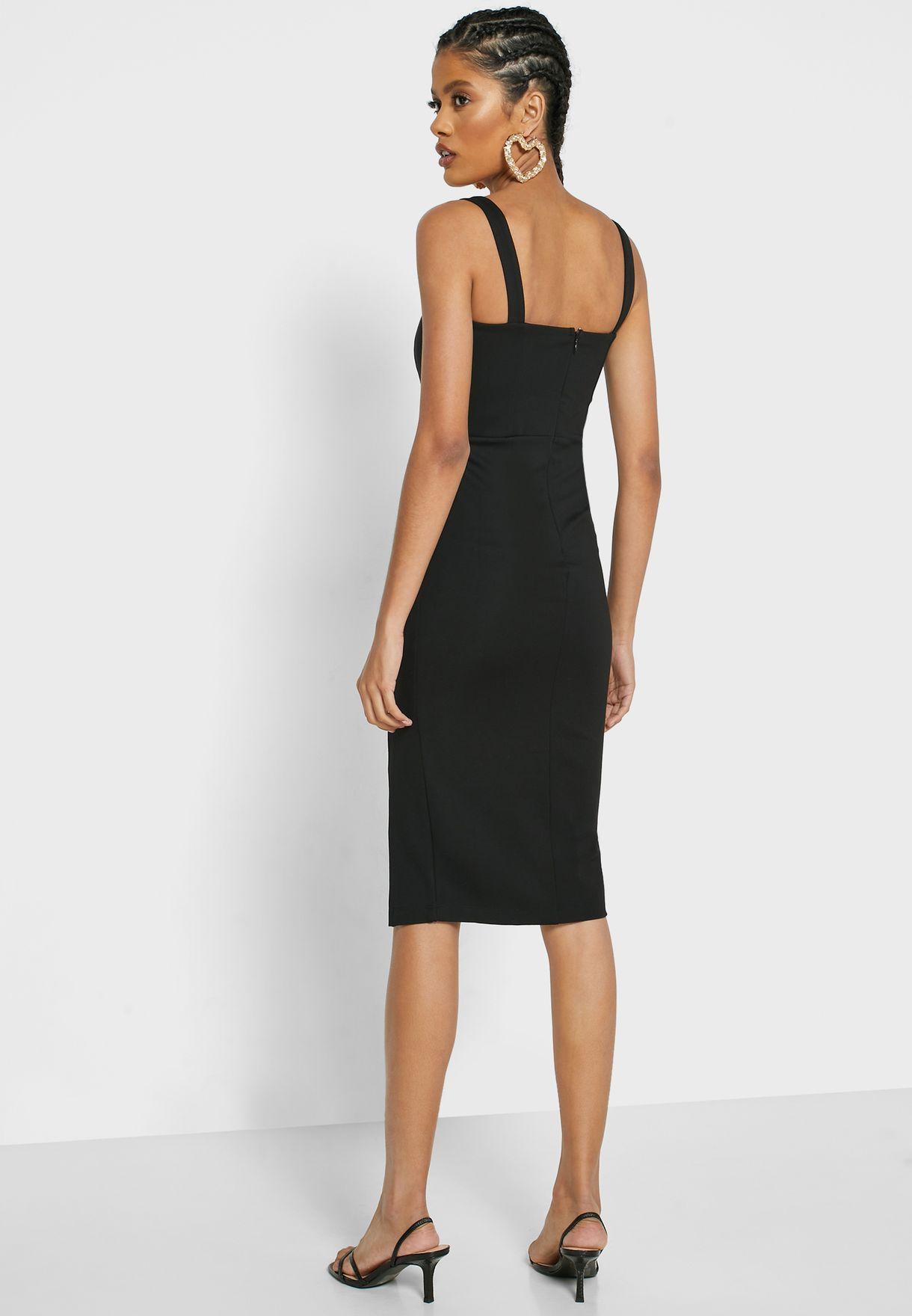 Front Split Bodycon Dress