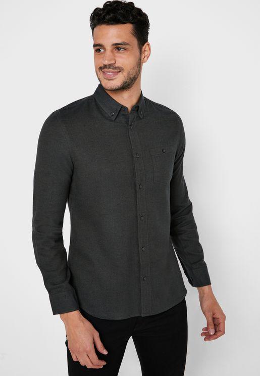 Herringbone Relaxed Shirt