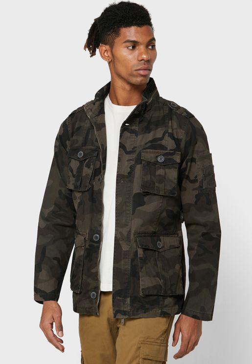 Camo Pocket Detail Jacket