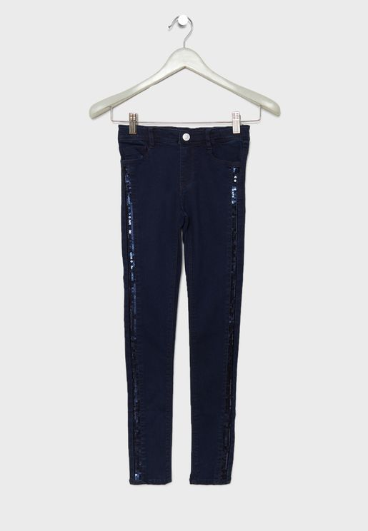 Kids Sequin Detail Sasha Jeans