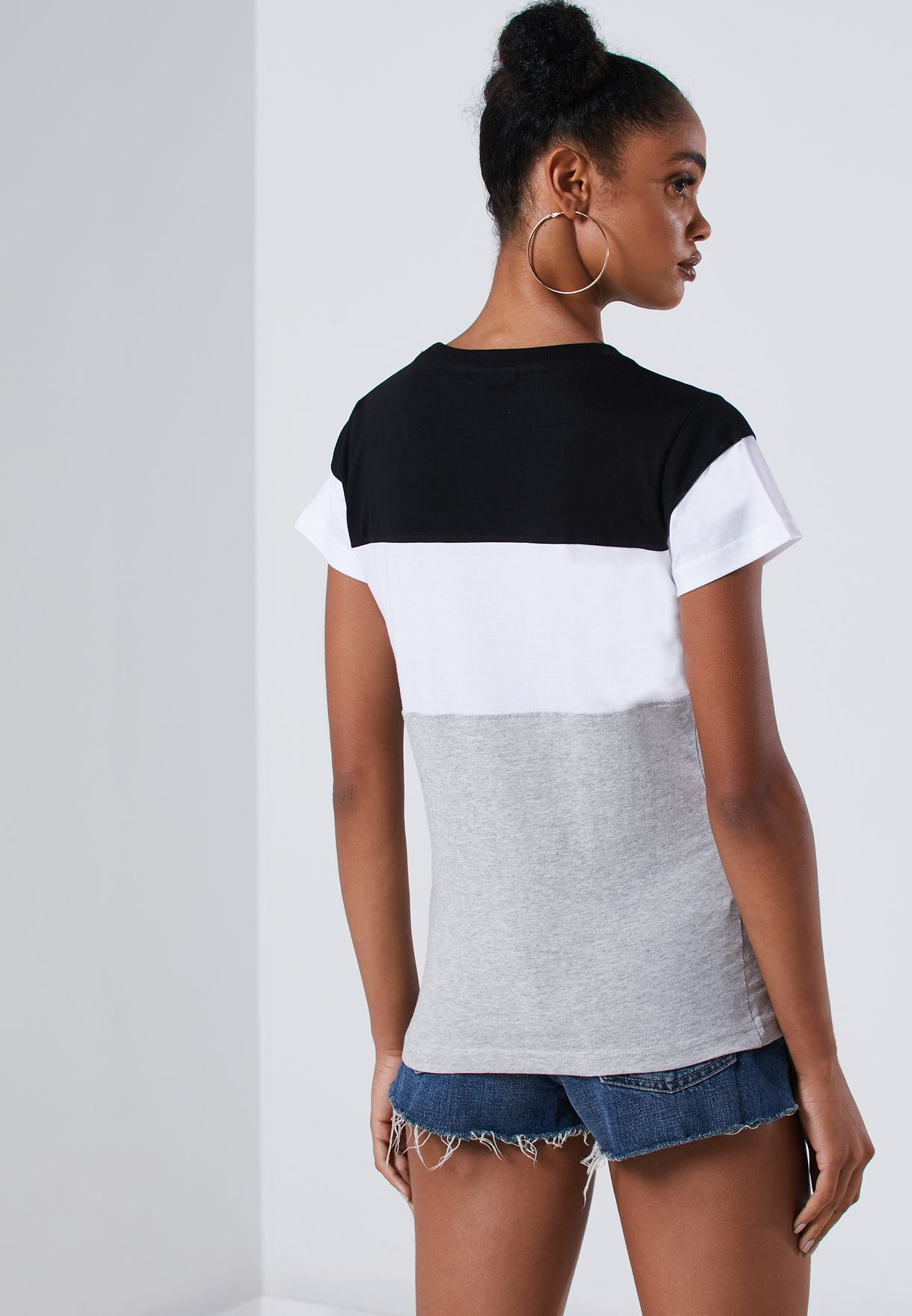 Graphic Colour Block T-Shirt