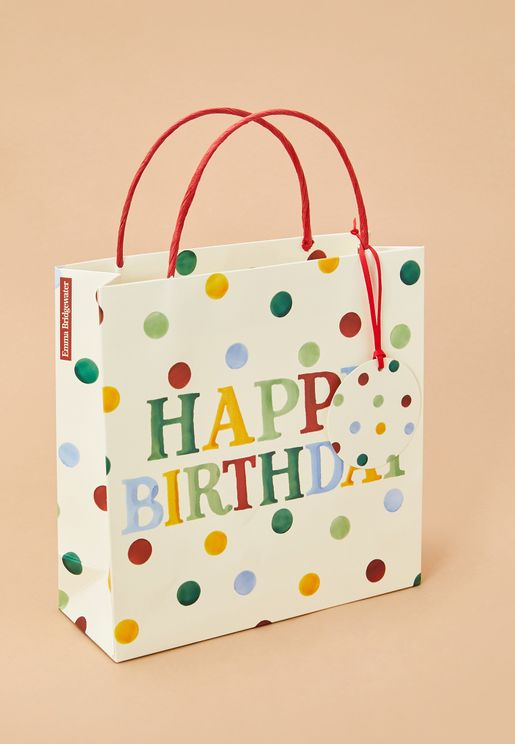 Polka Birthday Gift Bag