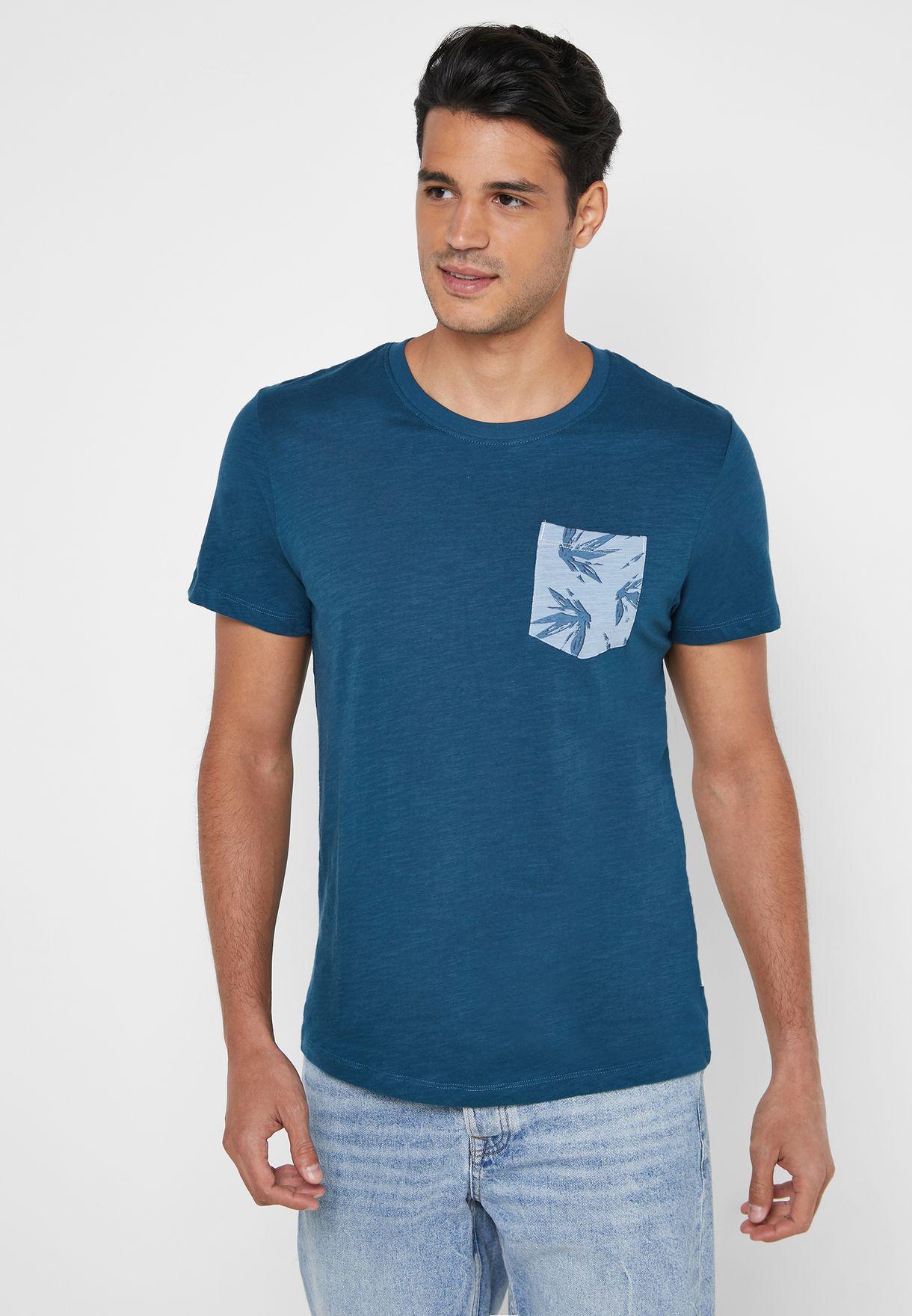 Tom Printed Pocket Crew Neck T-Shirt
