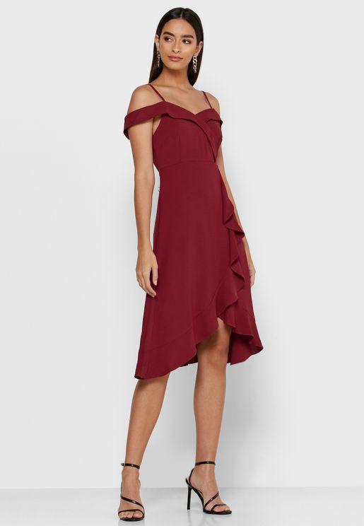 فستان ميني باكتاف عارية