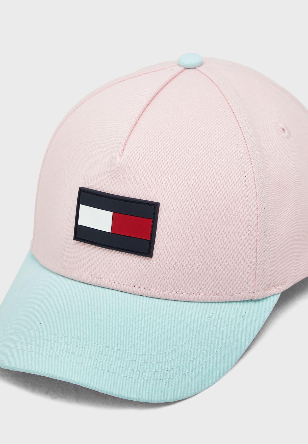 Shop Tommy Hilfiger pink Kids Colourblock Cap AU0AU00553 for ... 5583338ef679