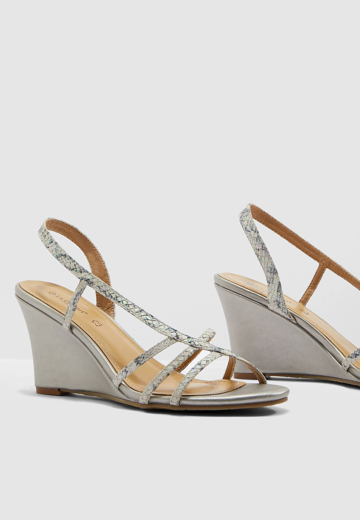 cd0c586ed6c9 Shop Le Confort prints Multi Strap Wedge Sandal - Multicolor MR-J1 ...
