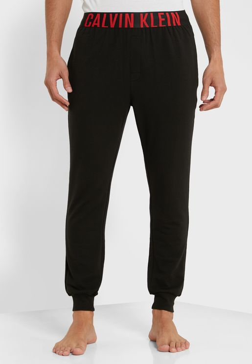 Elasticated Logo Band Cuffed Sweatpants