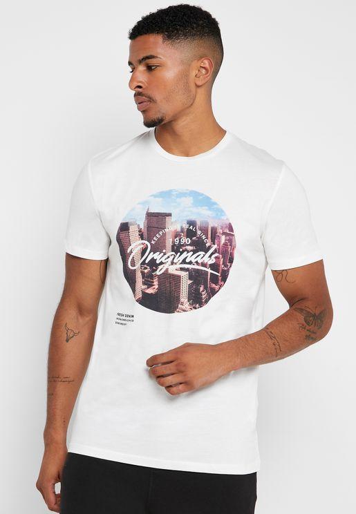 Uptown Crew Neck T- Shirt
