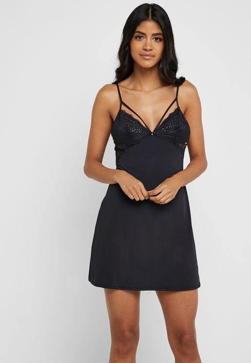 Embellished Strappy Nightdress