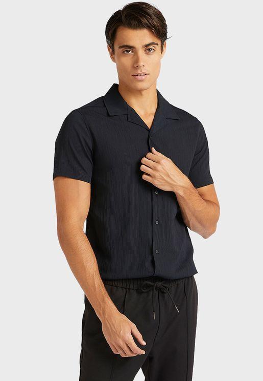 Textured Slim Fit Shirt