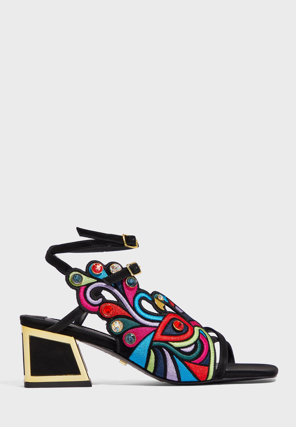 Zooey Ankle Strap Mid Heel Pump