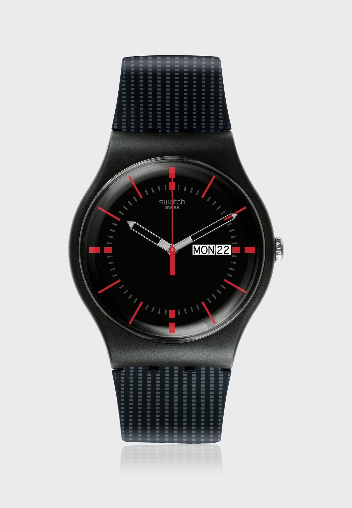ساعة بحزام من السيليكون مطبع