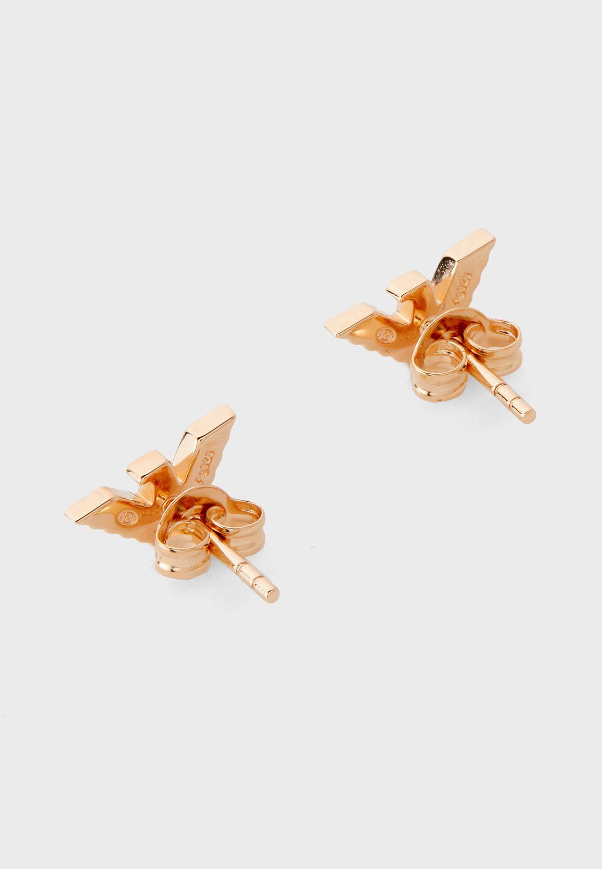 Logo Stud Earring
